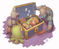 Sleeping hero, Link, The Legend of Zelda artwork by Ry Spirit. The Legend Of Zelda, See Games, Mario, Nerd Crafts, Nintendo Characters, Link Zelda, Video Game Art, Video Games, Videos