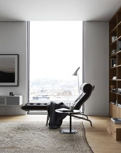 Such a great, luxurious interior, with lots of design icons and fantastic views of the city.