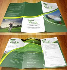 layout design brochure golf