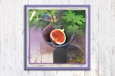 Unique Mediterranean Art, Lilac Art, Fig Tree Art, Israel Landscape Art, Canvas…