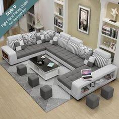 Corner Sofa Design, Sofa Bed Design, Living Room Sofa Design, Living Room Grey, Living Room Sets, Living Room Designs, Furniture Design, Rustic Furniture, Modern Furniture