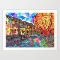 Art Print featuring Shang Tang Street by Juliana Kroscen Got Print, Over The Years, Design Trends, New Homes, The Originals, Street, Prints, Artwork, Painting