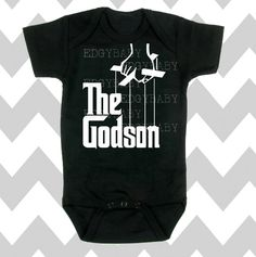 The Godson Baby Boy Black Bodysuit by Simply by SimplyChicBabyShop, $15.95