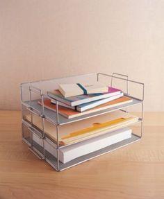 Design Ideas Silver-Tone Mesh Letter Tray - Silver