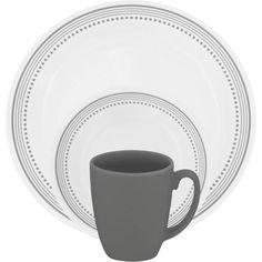 Corelle Livingware Mystic Gray 16-Piece Dinnerware Set - Walmart.com