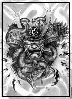 tattoo sketch in Japanese style , pencil 4H and 8B about 14 hours