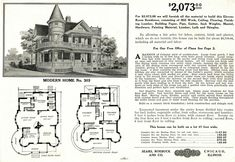 Sears 303, Yay or Nay?   Oklahoma Houses By Mail Victorian House Plans, Vintage House Plans, Victorian Homes, Vintage Houses, Antique House, Vintage Farm, Gothic House, The Sims, Sims 4