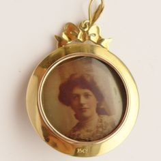Antique Gold Locket Belle Epoque 15ct Pearl Diamond Enamel K Katherine Kate | eBay