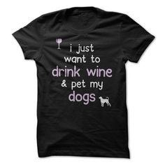 Wine and Dogs T Shirts, Hoodies, Sweatshirts. CHECK PRICE ==► https://www.sunfrog.com/Pets/Wine-and-Dogs.html?41382