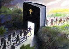 To take knowledge from Gods word; the Bible; we have to go through it, so that we can do Jehovah,s will and find everlasting life! Bible Pictures, Jesus Pictures, La Sainte Bible, Jesus Christus, Prophetic Art, Jesus Art, Everlasting Life, Bible Truth, Jehovah's Witnesses