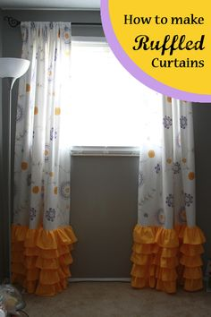 Runs With Spatulas: Crafty Fridays: How to Make Curtains with Ruffles