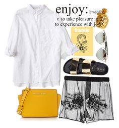 """""""Untitled #329"""" by almoghatouel ❤ liked on Polyvore featuring H&M, N°21, MICHAEL Michael Kors, Yves Saint Laurent, WALL and Chicnova Fashion"""