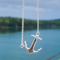 Anchor Tilted Stationary Necklace by Dune Jewelry Dune, Anchor, Stationary, Nautical, Arrow Necklace, Jewelry Necklaces, Navy Marine, Anchors, Anchor Bolt