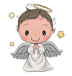 Cartoon christmas angel boy isolated on white vector Angel Cartoon, Jesus Cartoon, Bible Cartoon, Clipart Baby, Buddha Doodle, Baby Animal Drawings, Angel Vector, Dog Vector, Vector Art