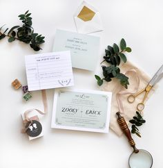delicate spring time library inspired wedding invites   Smitten on Paper
