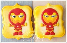 Chibi Iron Man Cookies made by Cookies Art by Shirlyn