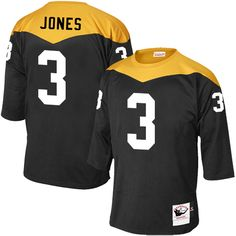 Landry Jones Men's Elite Black Jersey: Nike NFL Pittsburgh Steelers Home #3 1967 Throwback