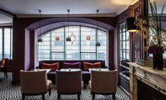 View the full picture gallery of Hotel Mansart Commercial Architecture, Interior Architecture, Interior And Exterior, Interior Design, Photo Mosaic, Luxury Sofa, Paris Hotels, Commercial Interiors, Hotel Offers