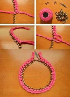 DIY necklace and earrings tutorials are fun! Find best DIY Jewelry ideas with step-wise tutorials for handmade earrings and necklaces. Necklace Tutorial, Earring Tutorial, Diy Necklace, Collar Necklace, Diy Tutorial, Necklaces, Pearl Necklace, Braided Necklace, Diy Bracelet