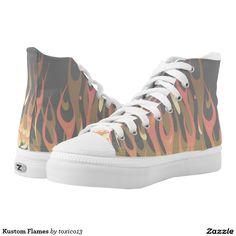 Kustom Flames Printed Shoes