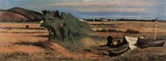 Giovanni Fattori (1825–1908) Netzflicker in Castiglioncello Date1880-1885Mediumoil on canvasDimensions23.5 × 62 cm (9.3 × 24.4 in)Current location Sammlung Taragoni Genova