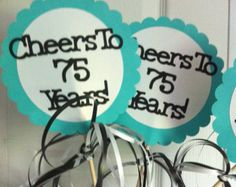 cheap homemade centerpieces for 75th b-day party - Google Search