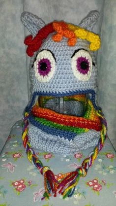 RainbowDash inspired hat and cowl