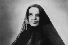 A Novena to St. Frances Xavier Cabrini: St. Frances Xavier Cabrini (1850-1917), known as Mother Cabrini, the first American citizen to be canonized. She founded the Missionary Sisters of the Sacred Heart of Jesus, and was canonized in 1946. (Photo c. 1900.)