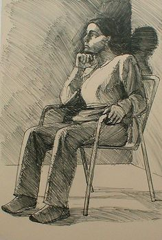 Theophilus Brown - Seated Model With Chin Resting On Hand
