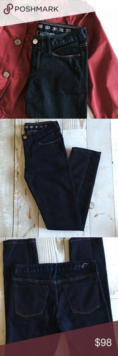 """NWOT Earnest Sewn Harlan Dark Rinse Jeans NWOT Earnest Sewn Dark rinse Harlan Cigarette sleek style jeans.    •5 pocket style •Dark Rinse •Contrast stitch •100% Cotton •5 1/2"""" wide bottom hem •30"""" inseam 14.5"""" Across waist Earnest Sewn Jeans"""
