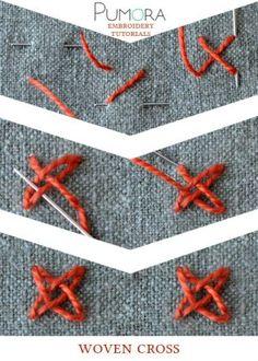 woven cross stitch tutorial
