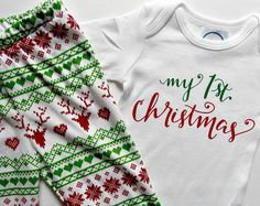 First Christmas Baby Outfit My First Christmas Baby Leggings Baby Christmas Outfit Newborn Christmas outfit Baby Boy wholesale outfits