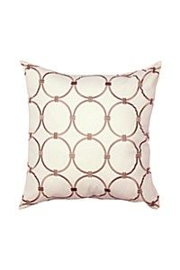 EMBROIDERED CIRCLES 50X50CM SCATTER CUSHION