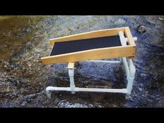 It is a larger version of my mini sluice that uses the . Gold Sluice, Gold Mining Equipment, Gem Hunt, Gold Prospecting, Treasure Hunting, Metal Detecting, Gold Diy, Fun Projects, Cabins