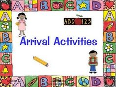 Arrival Activities Love the popcorn vocabulary word practice! Name Activities, Kindergarten Activities, Classroom Activities, Classroom Organization, Morning Activities, Classroom Management, Classroom Ideas, Calendar Activities, Classroom Procedures