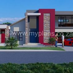 3 Bedroom House Plan – My Building Plans South Africa Architect Fees, Double Storey House Plans, 4 Bedroom House Plans, Construction Drawings, Building Plans, Open Plan, Windows And Doors, Mj, Master Suite