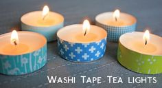 washi tape tea lights!  Joyce -  great idea just in case we need to camoflauge the tea lights even with the marbles.