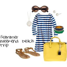 Summer weekend beach trip, created by kellidw.polyvore.com