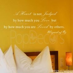 Amazon.com: PopDecors Quote Decals   A Heart Is Not Judged By How Much