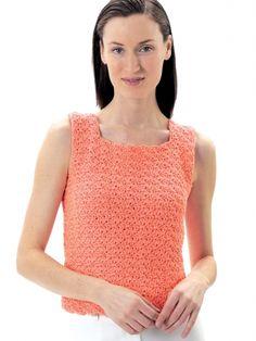 Summer Top | Yarn | Free Knitting Patterns | Crochet Patterns | Yarnspirations