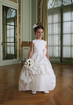 Zipper up Ball Gown Jewel Lace Floor Length Sleeveless Flower Girl Dress