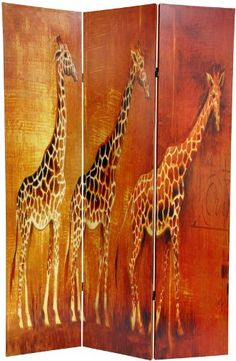 Oriental Furniture Educational Children's Art and Decor 6-Feet Giraffe and Elephant Double Sided Art Print Canvas Folding Screen Room Divder ORIENTAL FURNITURE http://www.amazon.com/dp/B004A6STA8/ref=cm_sw_r_pi_dp_4Z.3tb0KTYN3TRD1