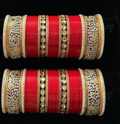 Choora Designs For Brides To Be A Choora is a set of bangles that are usually red and white, traditionally made of ivory with inlay work but are now generally made with plastic and are worn by a bride on her wedding day. Find out the Latest Choora Designs