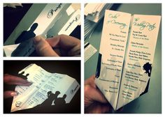 Paper Airplane Design- Wedding Programs   I designed these for one of my dearest friends. My girlfriend and now new husband initially met on a flight, so it was only suiting that their theme for the wedding be airplanes.  The tricky part was convincing enough people to help me fold them. #weddings