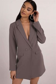 We've gathered our favorite ideas for Brown Shift Dress Blazer Mini Dress Brown Long Sleeve, Explore our list of popular images of Brown Shift Dress Blazer Mini Dress Brown Long Sleeve. Lace Blazer, Blazer Outfits, Blazer Dress, Jacket Dress, Cheap Black Dress, Sleeveless Blazer, White Shift Dresses, Tuxedo Dress, Gowns
