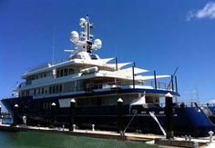 Marine Canvas for awnings on a yacht.