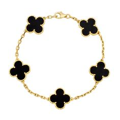 Van cleef & arpels vintage alhambra bracelet : whispers the message that happiness renews itself everyday.