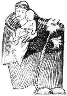 Antonio di Padova, sacerdote francescano e dottore della Chiesa (1195-1231), santo 13 GIUGNO illustrazioni di Luca Salvagno