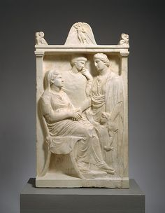 Marble stele (grave marker) of a woman | Greek, Attic | Late Classical | The Met