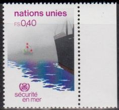United Nations postage stamp commemorating the Maritime Security.